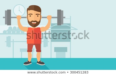Contemporary muscle man Stock photo © curaphotography