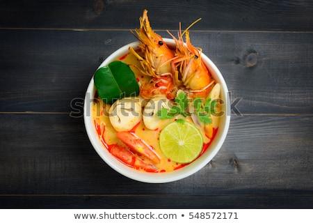 thai · yum · sopa · grama · peixe · folha - foto stock © leungchopan