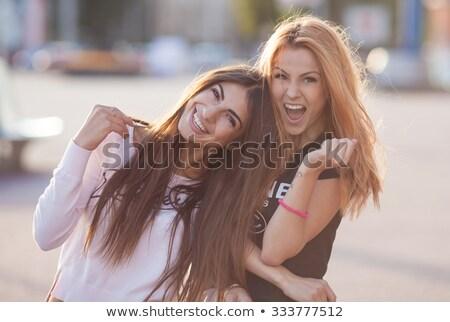 fabelachtig · jonge · vrouw · poseren · strand · tropisch · strand · vrouw - stockfoto © konradbak