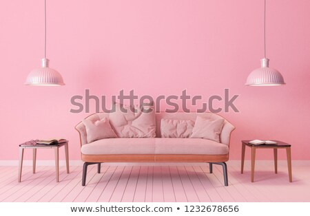 Modern couch withe coloured pillow Stock photo © get4net