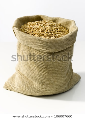 Worek konopie zbóż żółty ziarna żywności Zdjęcia stock © ryhor
