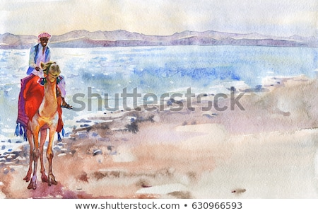 Stock photo: dubai painted by in the sand
