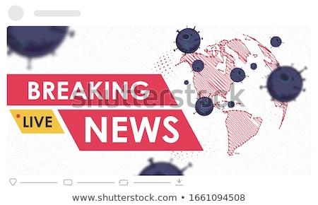 főcím · jelentés · hírek - stock fotó © devon