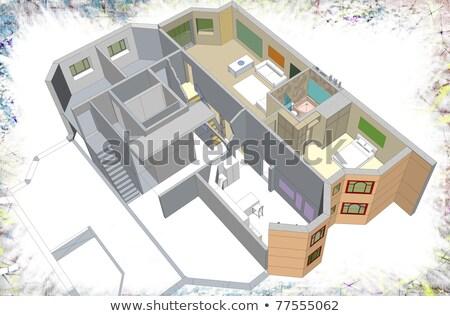 kitchen x ray rendering stock photo © cherezoff