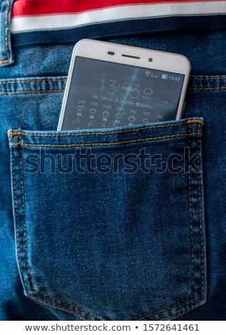 携帯電話 戻る ポケット 少女 ボディ ストックフォト © dukibu