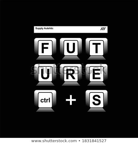 белый · черный · компьютер · ключами · иллюстрация · технологий - Сток-фото © artlens