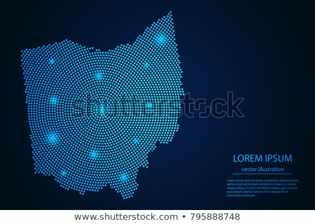Map Of Ohio 3d Shape Stock photo © NiroDesign