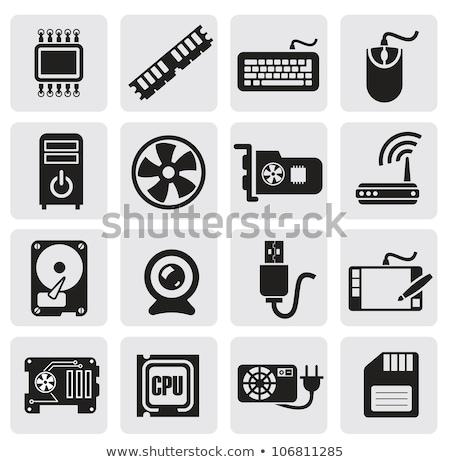 видео карт кабеля hdtv синий красный Сток-фото © smuay
