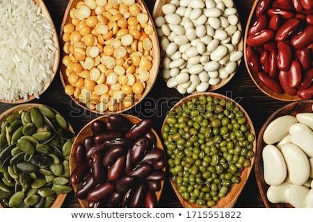 Foto stock: Mixto · secado · frijoles · olla · tazón · macro