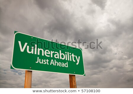 risk just ahead on green billboard stock photo © tashatuvango