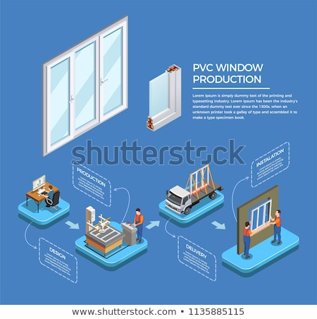 Photo stock: Pvc · fenêtre · profile · design · maison · groupe