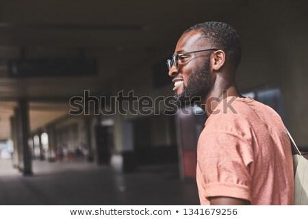 человека ходьбе отъезд зале окна бизнеса Сток-фото © meinzahn
