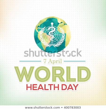 Abstract world health day medical background with caduceus medic Stock photo © bharat