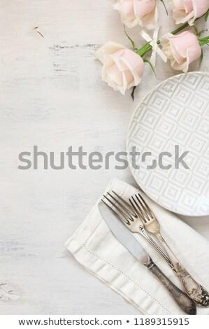 Color Vintage Silverware Stock photo © Concluserat