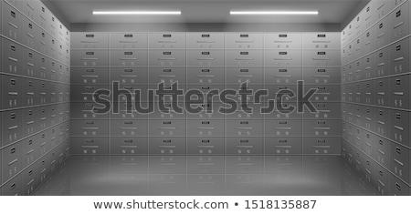 row of steel lockers stock photo © witthaya