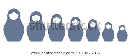 русский · кукол · семьи · изолированный · белый - Сток-фото © elmiko