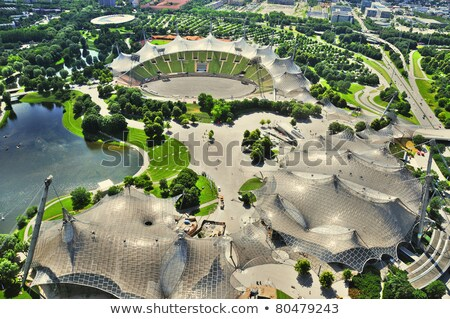 beautiful housing area in Munich in Nature Stock photo © meinzahn