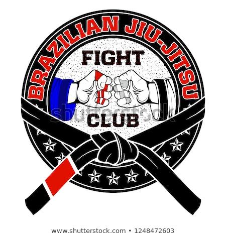 Logo-ontwerp zelfverdediging club bedrijf ontwerper cijfer Stockfoto © Viva