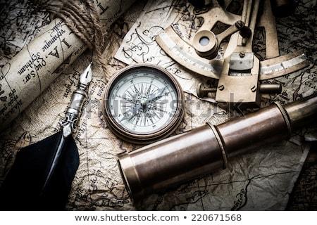 Starej mapy technologii gwiazdki podróży statku żeglarstwo Zdjęcia stock © Nejron