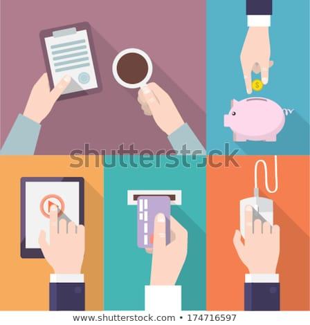 dinheiro · mouse · de · computador · negócio · computador · azul · euro - foto stock © designers