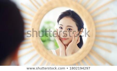 Ekspresyjny piękna portret przepiękny młodych brunetka Zdjęcia stock © lithian