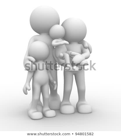 3D · beyaz · insanlar · yaz · gün · beyaz · kişi - stok fotoğraf © cherezoff