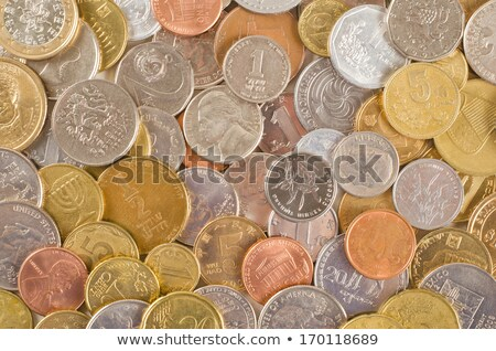 Stock photo: european and world coins background