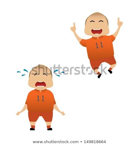 Triste Holanda fútbol ventilador vector Cartoon Foto stock © orensila