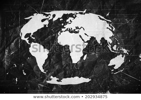 Globe earth icons themes idea design on crumpled paper stock photo © kiddaikiddee