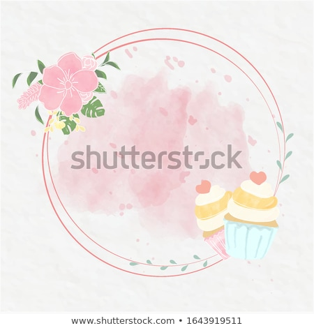 Zdjęcia stock: Kwiat · ciasto · biały · naczyń · kawy