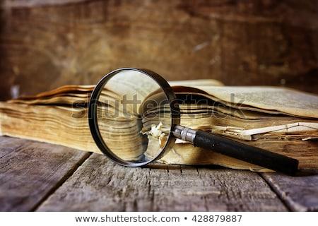 Soruşturma Eski kağıt kırmızı dikey hat Stok fotoğraf © tashatuvango