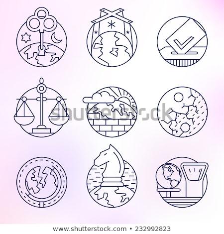 Xadrez planeta político saldo simbólico imagem Foto stock © grechka333