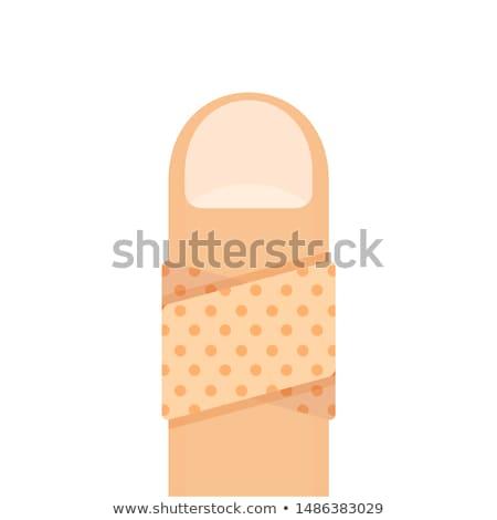 plaster on the forefinger Stock photo © ambro