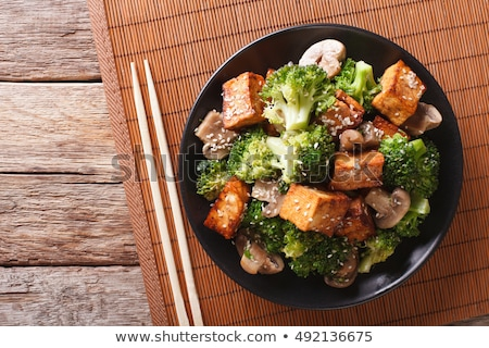 гриль Тофу соевый соус продовольствие таблице обеда Сток-фото © M-studio