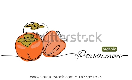 One Half Persimmons Stock photo © Cipariss