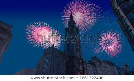Fogos de artifício castelo ano novo celebração Bratislava Eslováquia Foto stock © Kayco
