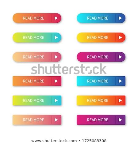 セット 4 青 色 webボタン 孤立した ストックフォト © tashatuvango
