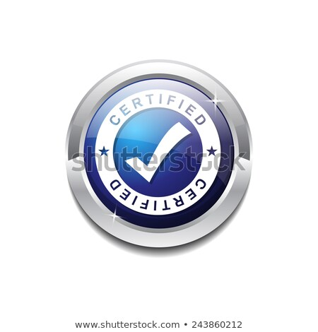 Trusted Link Blue Circular Vector Button Stock photo © rizwanali3d