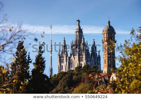 Barcelona templom felső égbolt épület szív Stock fotó © elxeneize