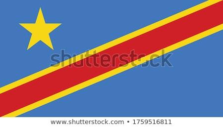 Przycisk symbol Congo banderą Pokaż biały Zdjęcia stock © mayboro1964