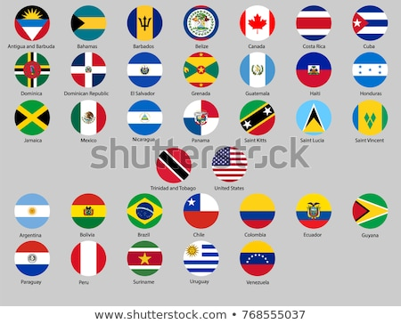 Stockfoto: Icon · vlag · Barbados · geïsoleerd · witte · reizen