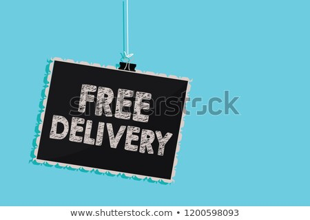 Free Delivery - Blue Hanging Cargo Container. Stock photo © tashatuvango