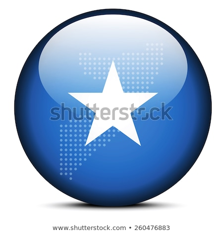 map with dot pattern on flag button of somali republic stock photo © istanbul2009