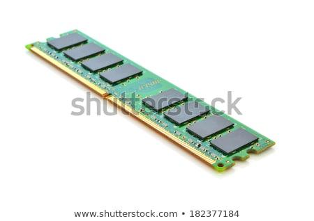 bilgisayar · bellek · yalıtılmış · beyaz · arka · plan · yeşil - stok fotoğraf © razvanphotos