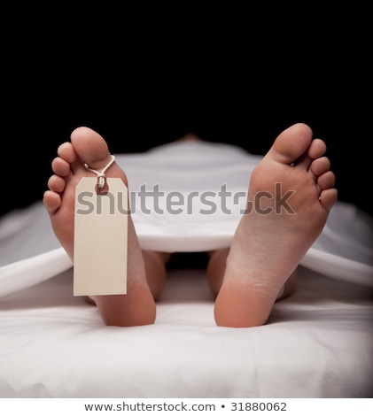 Stock photo: dead body with a blank toe tag