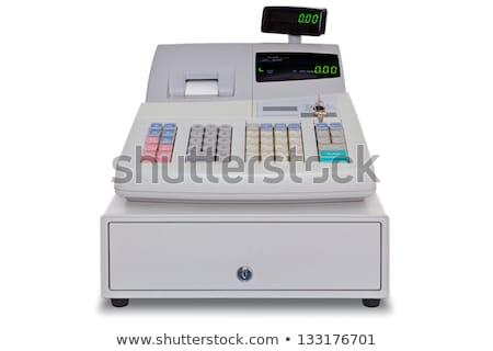 Moderno caixa registradora branco negócio teclado fundo Foto stock © RuslanOmega