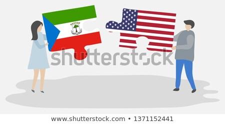 米国 赤道ギニア フラグ パズル ベクトル 画像 ストックフォト © Istanbul2009