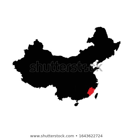 Map of People's Republic of China - Fujian province Stock photo © Istanbul2009