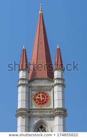Big church tower with a clock Stock photo © Sportactive