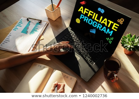 Affiliate Program Concept on Modern Laptop Screen. Stock photo © tashatuvango